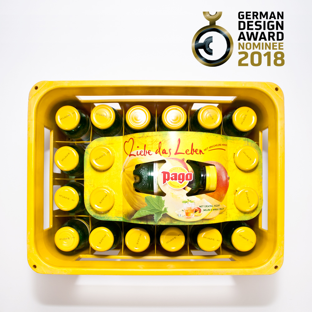 German Design Award 2018 Nominee Pago Fruchtsaft by Gerlinde Gruber & Martha Ploder